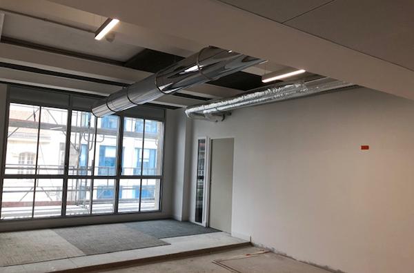 Rénovation immeuble Beaubourg zone témoin