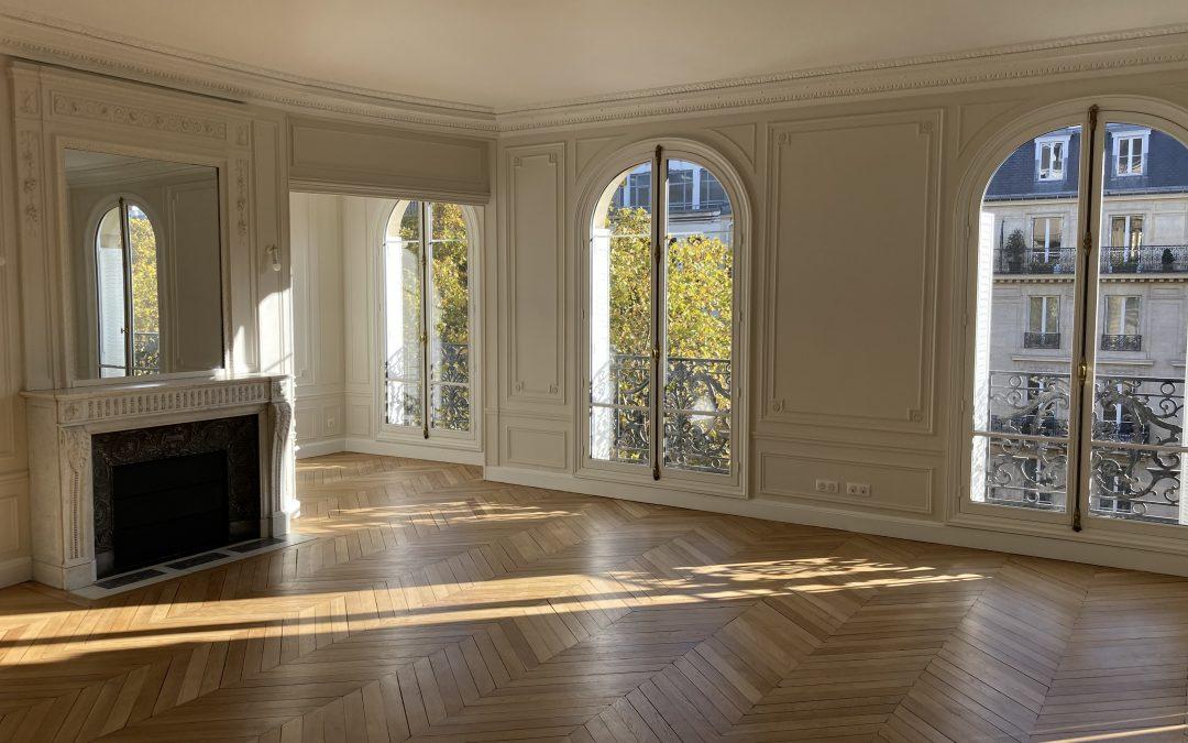 AHRPE recrée deux appartements haussmanniens, Boulevard de Courcelles