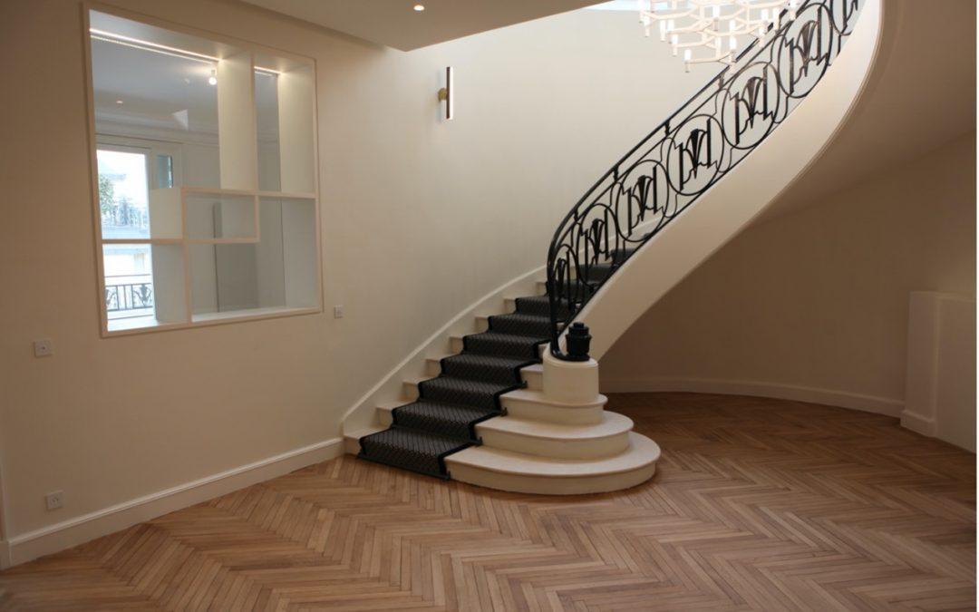 AHRPE transforme un grand duplex en 2 magnifiques logements dans le 16ème arrondissement de Paris