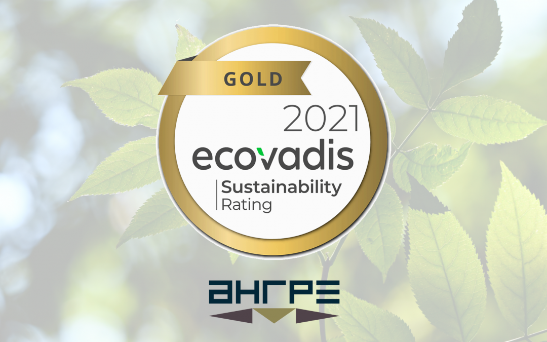 AHRPE obtient la médaille d'or EcoVadis  pour la 3ème année consécutive