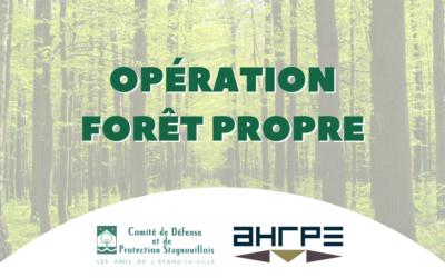 AHRPE soutient l'opération Forêt Propre  organisée par l'association Les amis de l'Étang-la-Ville